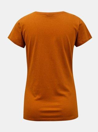 Hnědé tričko s potiskem Jacqueline de Yong Chicago