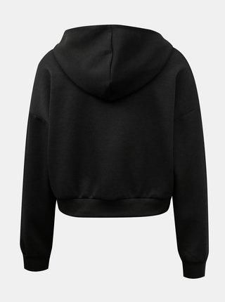 Černá krátká basic mikina s kapucí ONLY Want