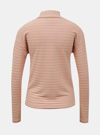 Tričká s dlhým rukávom pre ženy ONLY - svetloružová