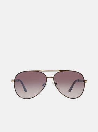 Hnědé pánské sluneční brýle Guess