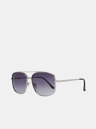 Pánské sluneční brýle ve stříbrné barvě Guess