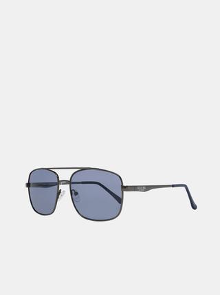 Tmavošedé pánske slnečné okuliare Guess