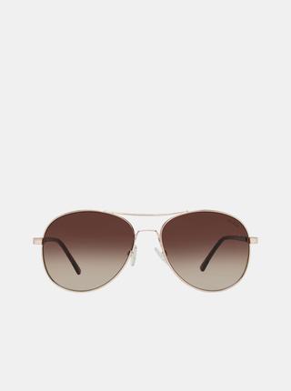 Dámské vzorované sluneční brýle ve zlaté barvě Guess