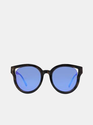 Tmavohnedé dámske slnečné okuliare Guess