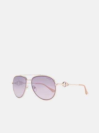 Dámske slnečné okuliare v ružovozlatej farbe Guess