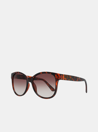 Hnedé dámske vzorované slnečné okuliare Guess
