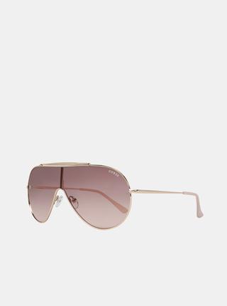 Dámské sluneční brýle v růžovozlaté barvě Guess