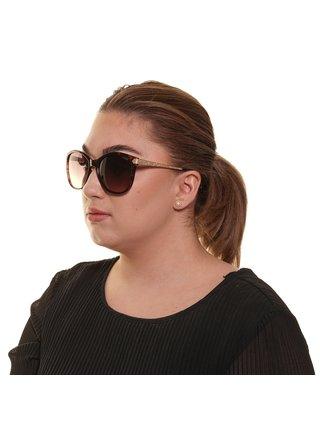 Dámské vzorované sluneční brýle ve zlato-hnědé barvě Guess