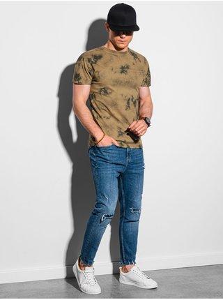 Pánske tričko bez potlače S1372 - bronzová