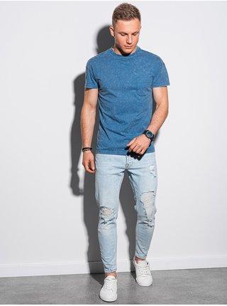 Pánske tričko bez potlače S1375 - nebesko modrá