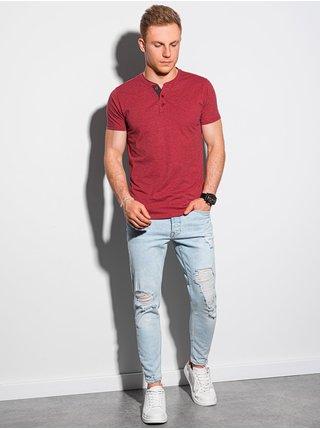 Pánske tričko bez potlače S1390 - červené