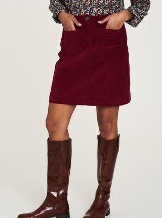 Vínová menčestrová sukňa Tranquillo