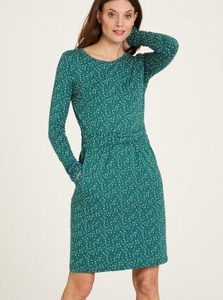 Zelené kvetované šaty s vreckami Tranquillo