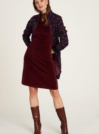 Vínové sametové šaty Tranquillo