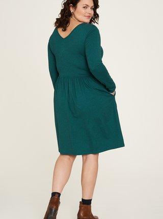 Zelené vzorované šaty s vreckami Tranquillo