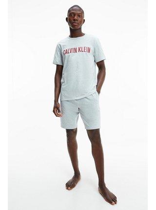 Calvin Klein šedé pánské tričko S/S Crew Neck