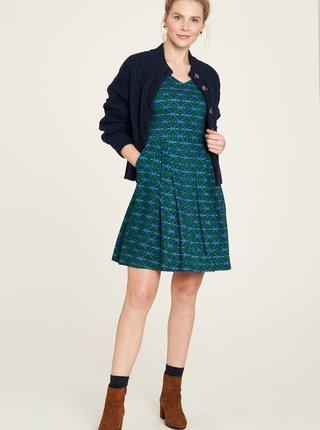 Modro-zelené vzorované šaty s vreckami Tranquillo