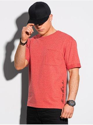 Pánské tričko bez potisku S1371 - červené