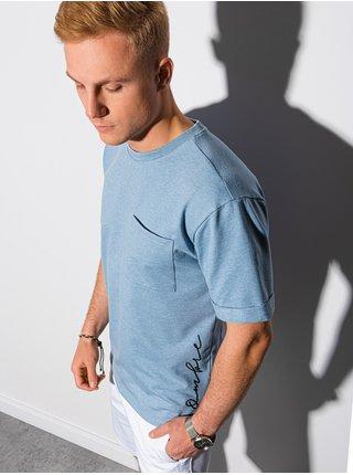 Pánske tričko s potlačou S1371 - nebesko