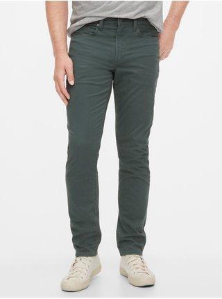 Zelené pánské kalhoty soft wear slim with GapFlex GAP