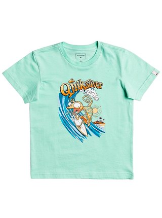 Quiksilver BREAK THE FALL CABBAGE dětské triko s krátkým rukávem - zelená