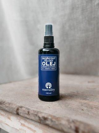 Skořicový tělový olej pro všechny typy pokožky RENOVALITY (100 ml)