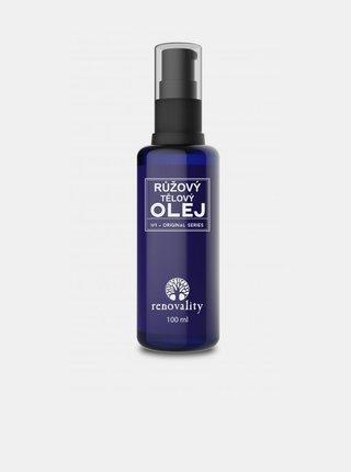 Tělový a masážní olej Růže RENOVALITY (100 ml)