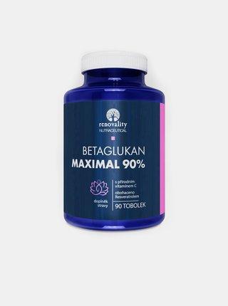 Doplněk stravy: Betaglukan 90% Maximal s Vitamínem C RENOVALITY (90 tobolek)
