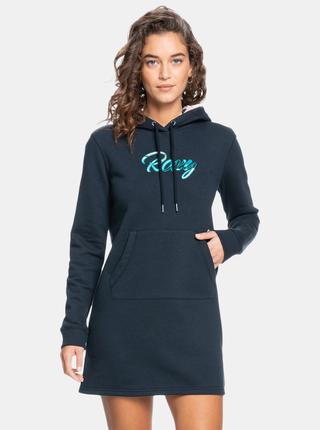 Modré dámske mikinové šaty Roxy