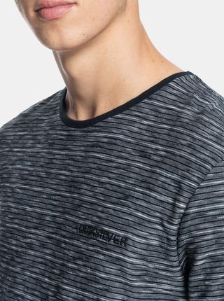Tmavě šedé pánské vzorované tričko Quiksilver Kentin