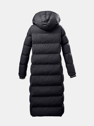 Černý dámský prošívaný zimní dlouhý kabát killtec