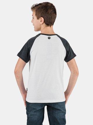 Černo-bílé klučičí tričko s potiskem SAM 73