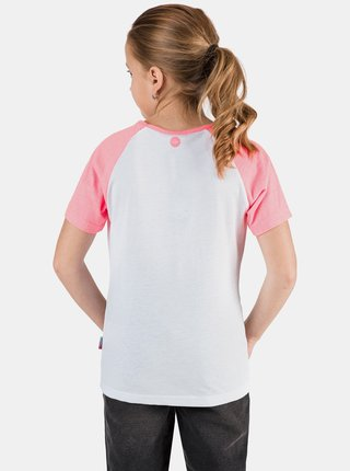 Růžovo-bílé holčičí tričko s potiskem SAM 73