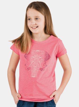Ružové dievčenské tričko s potlačou SAM 73
