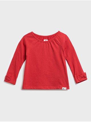 Červené holčičí dětské tričko mix and match tunic shirt GAP