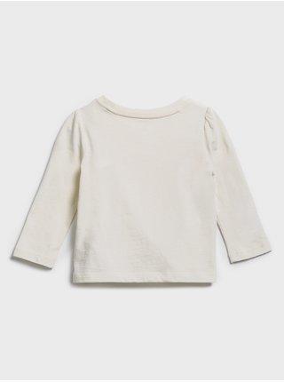 Smetanové holčičí tričko GAP logo