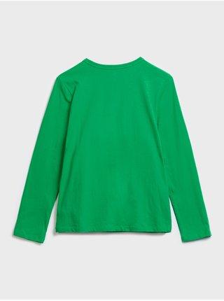 Zelené klučičí dětské tričko kindness graphic t-shirt GAP