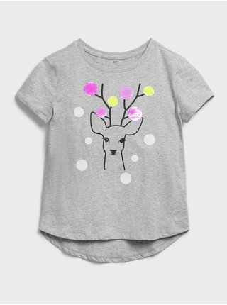 Šedé holčičí tričko GAP