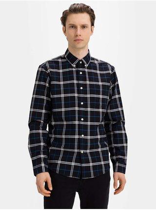 Černá pánská košile oxford shirt in untucked fit GAP