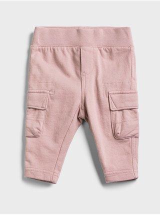 Růžové holčičí baby tepláky cargo pull-on pants GAP