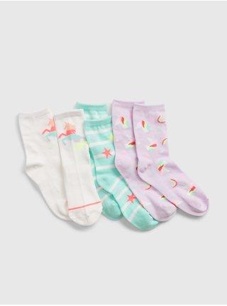 Barevné holčičí dětské ponožky unicorn socks, 3 páry GAP