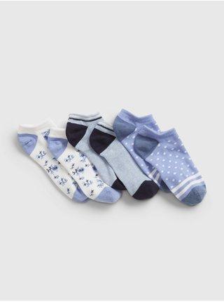 Barevné holčičí dětské ponožky no-show print socks, 3 páry GAP