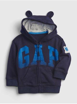 Modrá klučičí baby mikina GAP Logo bear hoodie
