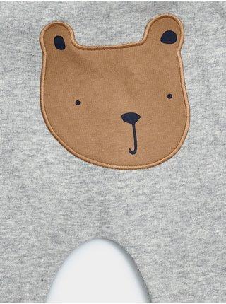Šedé klučičí baby tepláky brannan bear pants GAP