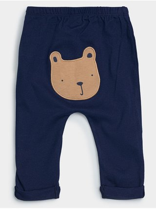 Modré klučičí baby tepláky brannan bear pants GAP