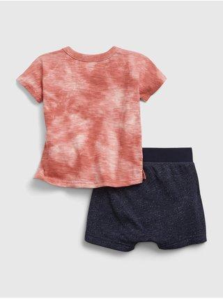 Červený klučičí baby set tie-dye outfit GAP
