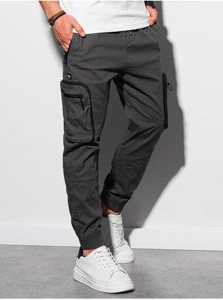 Pánske jogger nohavice P960 - grafitová