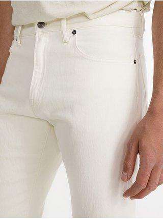 Smetanové pánské džíny straight crop fit denim ecru GAP