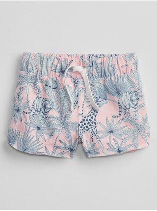 Barevné holčičí dětské kraťasy print knit shorts GAP
