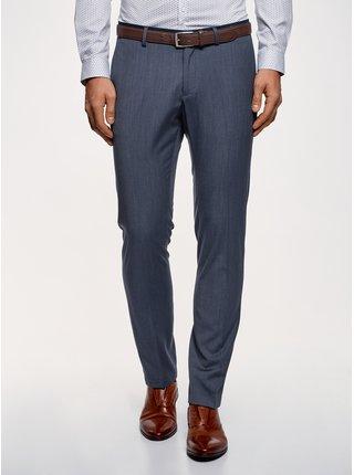 Kalhoty slim s kontrastními prvky OODJI